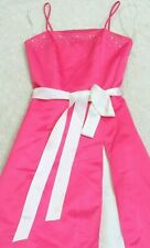 Debut Pink White Prom Dress Women's Size Three 3 Polyester Woman Spaghetti Strap
