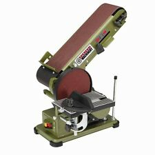 Belt Disc Sander Combo 3.5-Amp Bench Top Grinder Miter Bevel Wood Work Shop