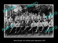 OLD LARGE HISTORIC PHOTO OF ROME GEORGIA VIEW OF THE POLICE DEPARTMENT c1932