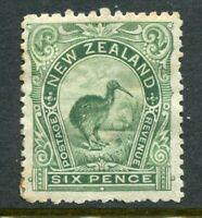 NEW ZEALAND....  1898  6d green kiwi    mint