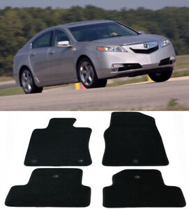 4 Pieces OE Black Trim Front Rear Nylon Carpets Floor Mats For 09-14 Acura TL