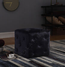 More details for new luxury velvet square deep buttoned pouffe/footstool perfect for any room!