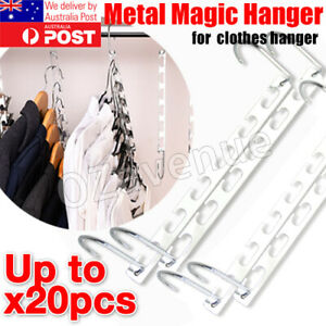 Space Saver Clothes Coat Pant Magic Hanger Metal Hooks Closet Organizer Storage