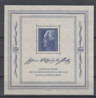 CU7636/ GERMANY SOVIET ZONE – GOETHE - BLOCK MI # 6 MINT MH – CV 210 $