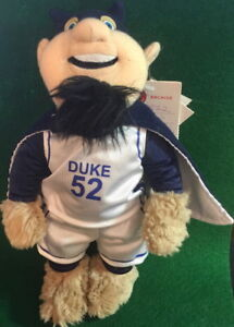 "DUKE UNIVERSITY 2009 College MASCOT 10"" Plush Blue Devil PLUSH PROTOTYPE w/Tags"
