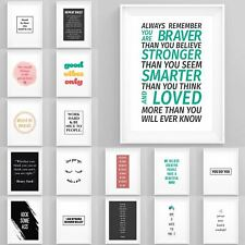 Inspirational Motivational Posters Famous Quotes Framed Prints Wall Art Bedroom