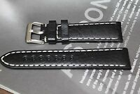 22mm Italian Sports Buffalo genuine leather watch band Fits Swiss watches