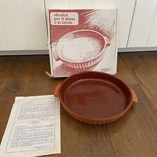 Vintage Round Oven Clay Ware Dish Terracotta Ceramiche Partenopee Italy