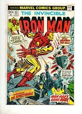 Iron Man #65 VF- 7.5 ORIGIN DR SPECTRUM (Marvels G Lantern) THOR v IRON MAN 1973