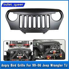 Black Angry Bird Overlay Grill Grille For Jeep Wrangler TJ Sahara 97-06 US Ship