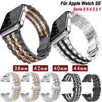 Für Apple Watch SE 6 5 4 3 2 1 Armband Luxus Edelstahl Uhren Band 38/40/42/44mm