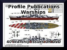 Warships by Profile Publications 40 Navy and Military History Books on DVD