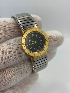 Bvlgari Bulgari 18Kt Gold  Tubogas Open Flex Band Quartz Watch BB232T Nice