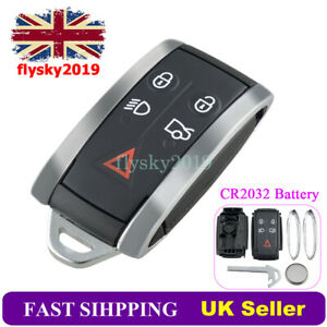 For Jaguar XF XKR XK XFR 2006 - 2014 5 Button Key Fob Shell + Battery Repair Kit