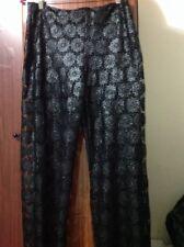 LE GATTE JEANS Italy Black  Guipure Lace Pants NWT Size 44 Size USA 12
