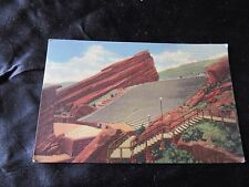 Red Rocks Theatre- Colorado-Vintage Linen Postcard-Denver Mountain Parks