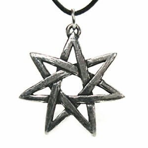 """Faery Star Pewter Pendant 1.25"""" NEW Silver Color Fairy Elven Amulet - US Made!"""