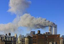 9/11 World Trade Center Burning SIGNED color photo by Jack Reznicki REDUCED