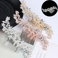 Wedding Bridal Rhinestone Comb Crystal  Hair Clips Pins Diamante Accessories