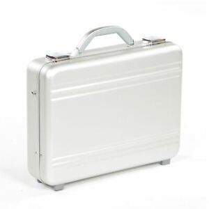 100% Aluminium Laptop Briefcase Silver High Quality Robust Stoage Brief Case