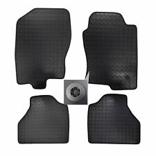 4x Front Rubber Tailored Floor Mats set w 3 Clips for Nissan Navara D40 2010 on