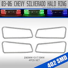 03-06 Silverado Bluetooth Multi-Color Angel Eyes LED RGB Headlight Halo Ring Set