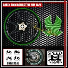 GREEN REFLECTIVE RIM TAPE WHEEL STRIPE TRIM CAR BIKE BICYCLE DECAL 16 17 18 19