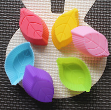 Lot 10 Pcs Leaf Silicone Ice Cube Candy Chocolate Cake Mould Soap Molds DIY