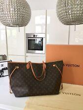 Louis Vuitton Neverfull GM Monogramm Hand Tasche Bag Patina m. Box & Staubbeutel