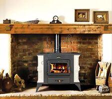 Charming Wood Burning Stove 9 kW Fireplace Log Burner Woodburning Multi Fuel 1RK