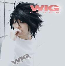 Death Note L Black Short Stylish Anime Cosplay Hair Wig H17