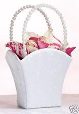 Lillian Rose Elegant Wedding Flower Girl Basket White