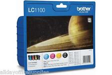 Original Genuine Brother LC1100 LC 1100 Value Pack Black Cyan Magenta Yellow