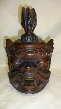 Vintage Hand Carved Hardwood Monkey God Wall hanging Mask - Very Unusual