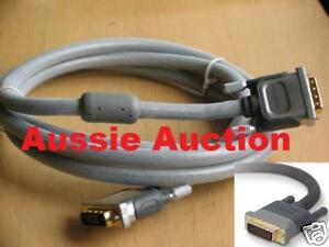 Genuine Belkin PureAV Silver 2.4m DVI Dual-Link Cable