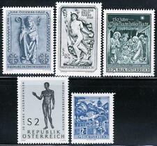 Austria 1968 Famous Esculturas x5 Sellos MNH