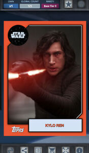 Topps Star Wars Card Trader Kylo Ren Reddit Christmas 2019 Base Variant