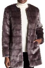 Diane Von Furstenberg ~ Francie Gris Manteau de Vison Taille: X2 Convient (16-18) Neuf avec étiquettes