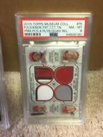 2015 Topps Museum Primary Pieces Quad Relics PK Mike Trout and others [PSA 8]