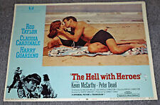 THE HELL WITH HEROES lobby card ROD TAYLOR/CLAUDIA CARDINALE 11x14 movie poster