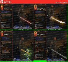Diablo 3 Nintendo Switch - Bundle - 4x Primal Modded Weapons - Check the Photos