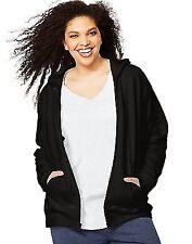 96c6879a0efd7 Just My Size Womens Plus-size Full Zip Fleece Hoodie Ebony 5x Big