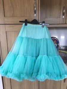 """Lady 50's Underskirt Rock n' Roll Petticoat  TUTU 26""""approx Rockabilly green"""