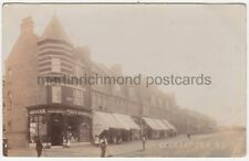 Okehampton Road Kensal Rise, London, Post Office & Shops RP Postcard B854