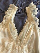 New listing Vintage Lady Leonora 1930's Rayon Cream Nightgown Sz Xs