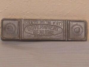 Vtg Syracuse Babbitt Smelting Works  Government Genuine Lead Bar Ingot 4.5 lbs