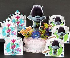 "Trolls prince BRANCH cake topper + 10pc Treat boxes centerpiece decoration 13"""