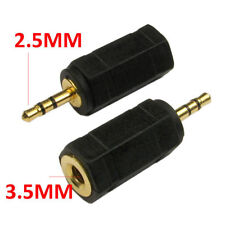 2.5mm 3 Pole Stereo Male to Female 3.5mm Jack Socket Audio Adaptor Connector