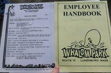 Vintage Whalom Amusement Park Fitchburg Mass Employee Handbook Chart Guide Games