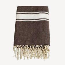 Grande fouta Xxl café100% coton 160 x 240cm nappe couvre-lit jeté canapé rideaux